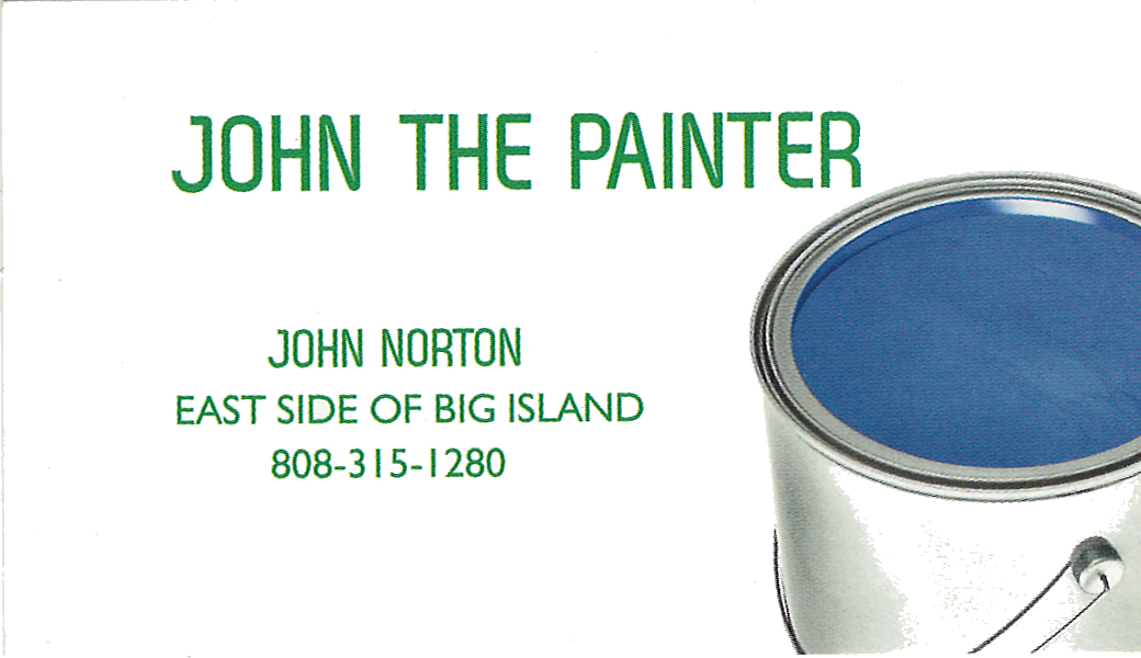 Business card for John the Painter, John Norton